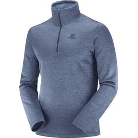 Salomon Transition Half Zip Mid Shirt Men night sky/heather